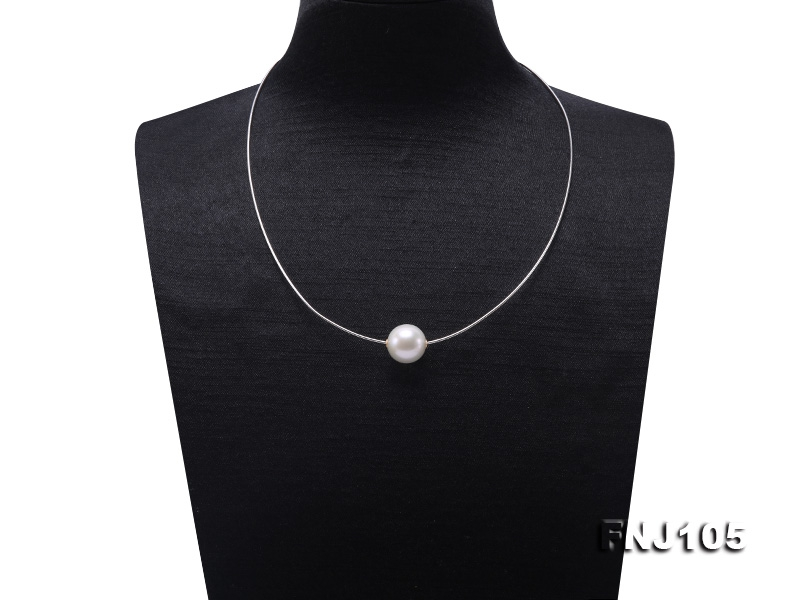 Chic 14mm Single-Pearl Necklace with Sterling Silver Chain
