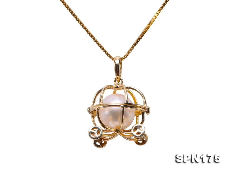 Exquisite 8mm Akoya Pearl Pendant in 14k Gold