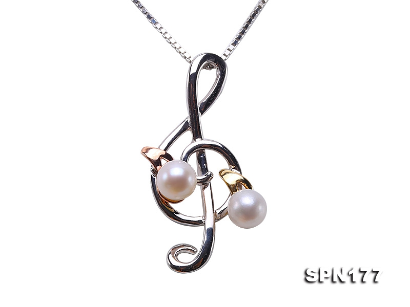 Delicate 4mm Akoya Pearl Pendant in 14k Gold