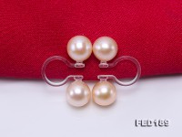Elegant 6.5mm Pink Pearl Clip-on Earrings with Transparent Resin Clips