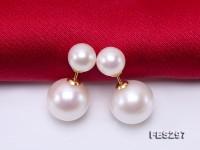 Luxurious Pearl Earrings Series—Gorgeous 7-11mm White Pearl Earrings in 18k Gold