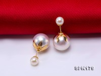 Luxurious Pearl Earrings Series—Gorgeous 4-9mm White Akoya Pearl Earrings in 18k Gold