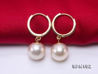 Luxurious Pearl Earrings Series—Gorgeous 9mm White Akoya Pearl Earrings in 18k Gold