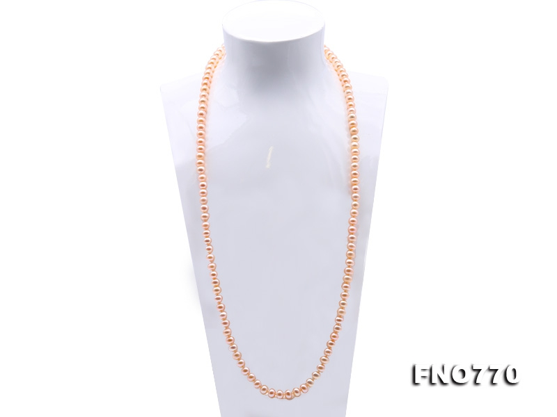 High Quality 8-9mm Pink Pearl Long Necklace