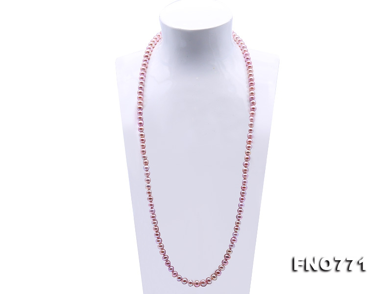 High Quality 8-9mm Lavender Pearl Long Necklace