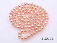 High Quality 9-10mm Pink Pearl Long Necklace