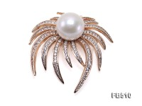 Huge and Luxurious 14.5mm White Edison Pearl Brooch