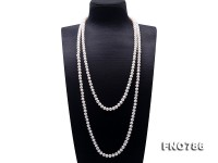Classical 8-9mm White Pearl Long Necklace