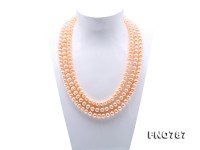 Classical 9-10mm Pink Pearl Long Necklace