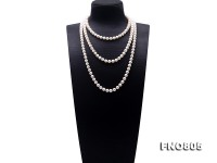High Quality 8-9mm White Pearl Long Necklace