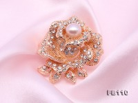 Rose Design 9mm Lavender Pearl Brooch