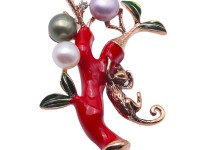 Special 7.5-8mm Colorful Pearl Brooch