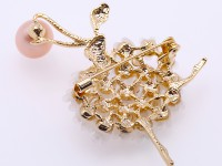 High Quality 9.5×12.5mm White Pearl Brooch