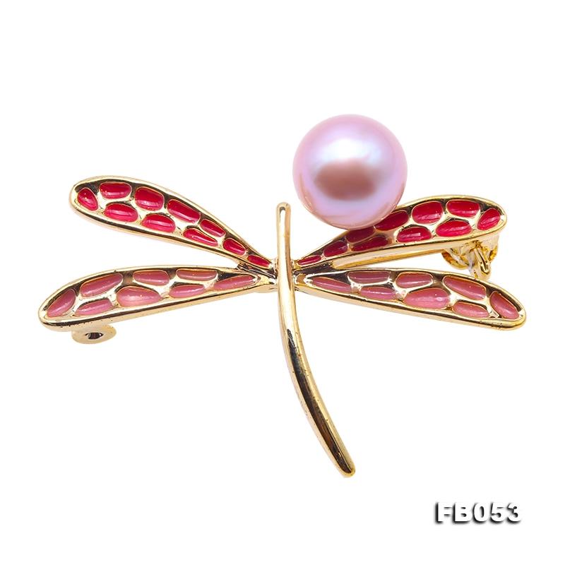 Elegant Dragonfly-shape 10×12.5mm Freshwater Pearl Brooch