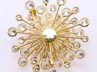 Beautiful Flower-shape 13mm White Pearl Brooch