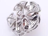 High Quality 13.5mm Lavender Pearl Flower Brooch