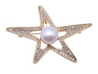 Lustrous 11mm White Round Pearl Brooch/Pendant