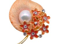 Extraordinary Big 13.5mm White Pearl Brooch/Pendant