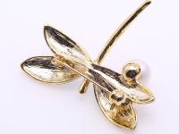 Elegant Dragonfly-shape 10.5mm Freshwater Pearl Brooch