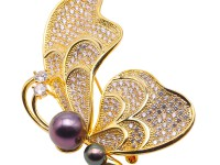 Luxurious Pearl Brooch Series—11mm Peacock Green Tahitian Pearl Pendant