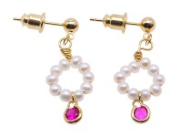 Lovely Mini 3mm White Pearl Earrings