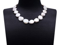 Unique19x21mm White Baroque Pearl Necklace