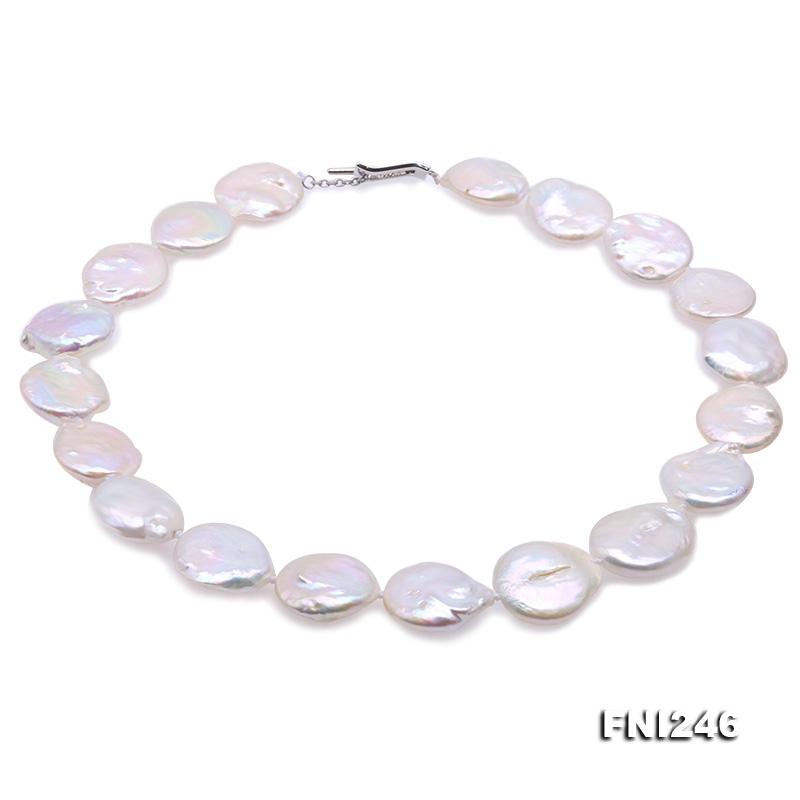 Unique19x21mm White Baroque Pearl Necklace