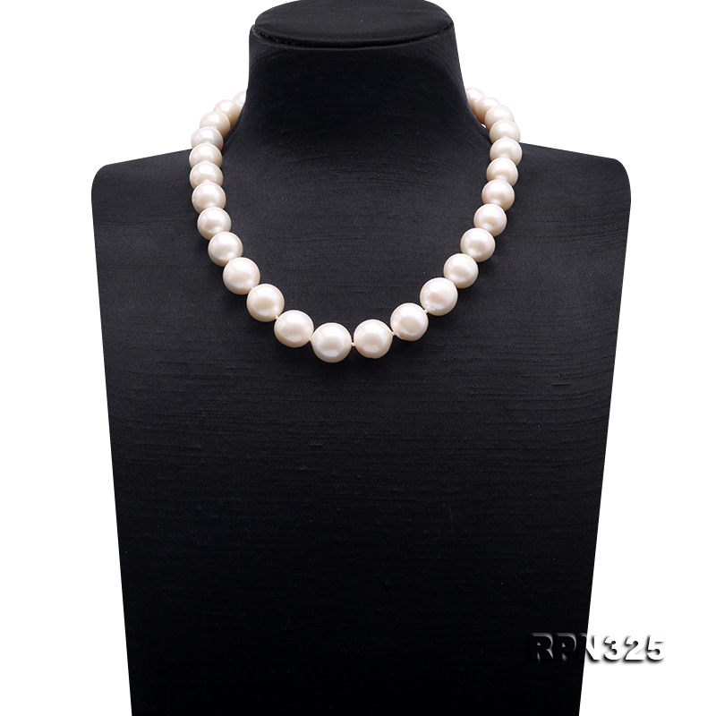 Incredibly Huge 13-16mm White Edison Pearl Necklace