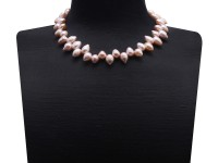 Special 9.5-10.5mm Lavender Drop-shaped Freshwater Pearl Necklace