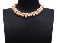 Special 10-10.5mm Pink Drop-shaped Freshwater Pearl Necklace