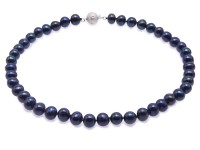 Classic 9.5-10mm Black Cultured Freshwater Pearl Necklace