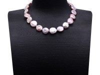 Unique 17.5×19-18×20mm Lavender Baroque Pearl Necklace