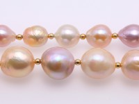 Extraordinary 10.5-15.5mm Multicolor Baroque Pearl Long Necklace