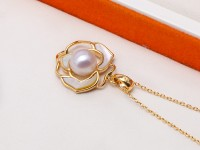 Elegant 7.5-8mm White Freshwater Pearl Pendant Necklace and Earrings Rings