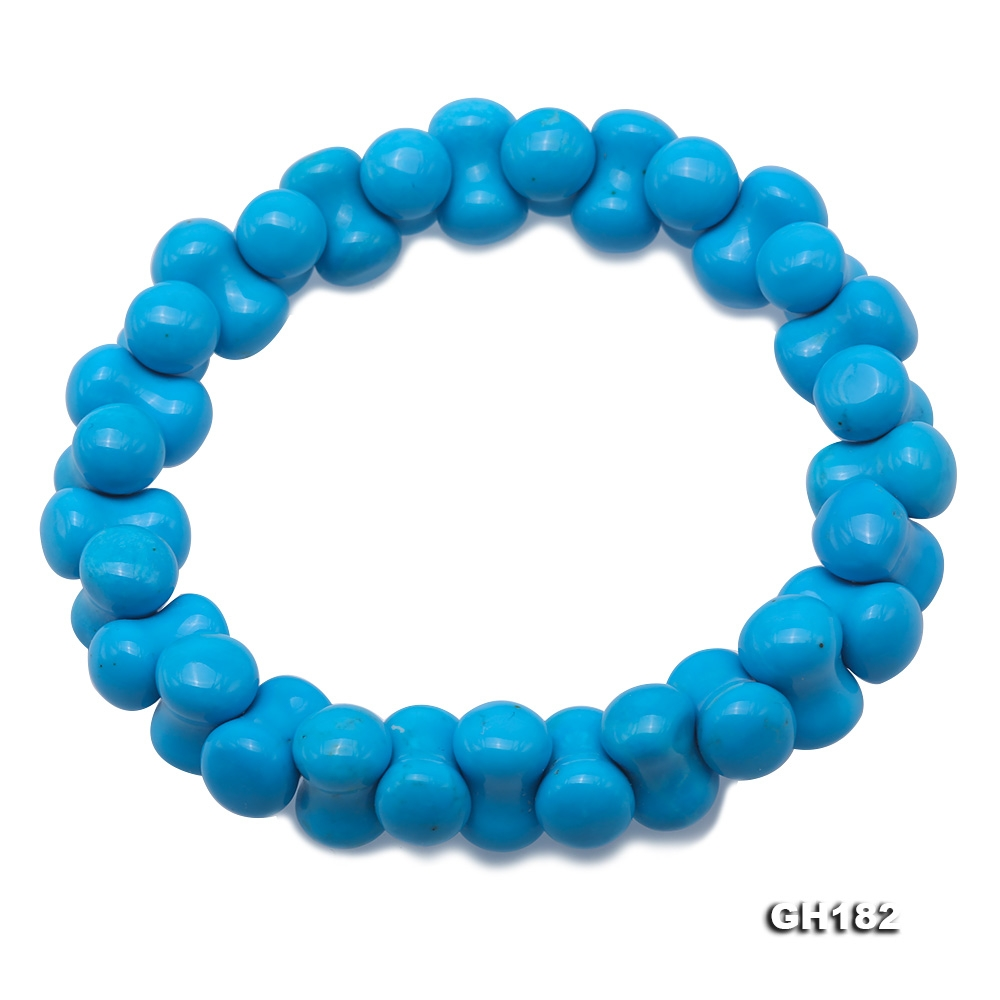 8.5×13mm Bone Blue Turquoise Bracelet
